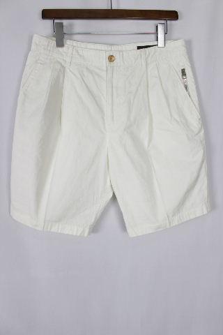 ルイヴィトン [ LOUISVUITTON ] ファスナー ハーフパンツ ホワイト 白 SIZE[38] メンズ ヴィトン ビトン ショートパンツ 短パン