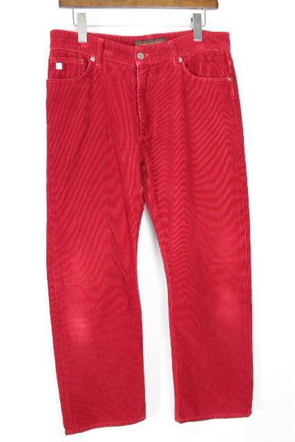 ルイヴィトン [ LOUISVUITTON ] コーデュロイパンツ レッド 赤 SIZE[42] メンズ ヴィトン ビトン ボトムス カジュアルパンツ