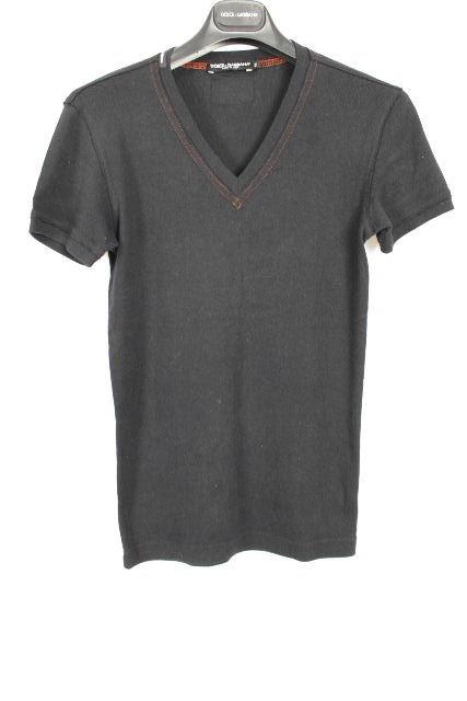 ドルチェ&ガッバーナ [ DOLCE&GABBANA ] Vネック Tシャツ ブラック 黒 半袖 SIZE[44] メンズ ドルガバ トップス カットソー