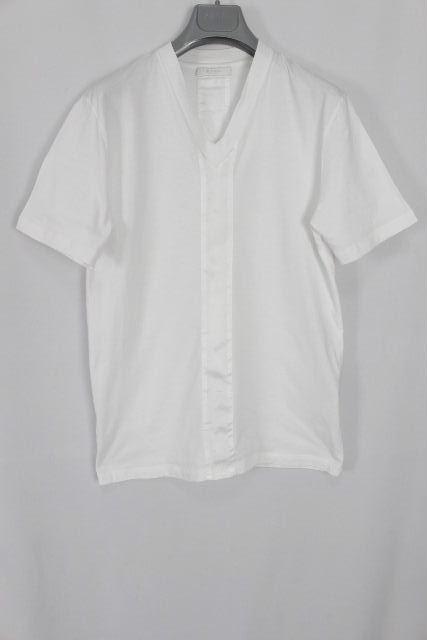 プラダ [ PRADA ] Vネック カットソー ホワイト 白 半袖 SIZE[M] メンズ トップス Tシャツ