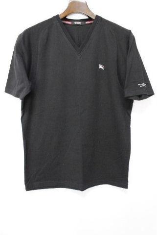 バーバリーブラックレーベル [ Burberry ] ホースマーク Vネック Tシャツ 黒 半袖 SIZE[3] メンズ バーバリー カットソー トップス