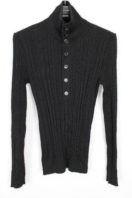 ドルチェ&ガッバーナ [ DOLCE&GABBANA ] ボタン ハイネック ニット セーター ブラック 黒 SIZE[44] メンズ トップス ドルガバ 長袖