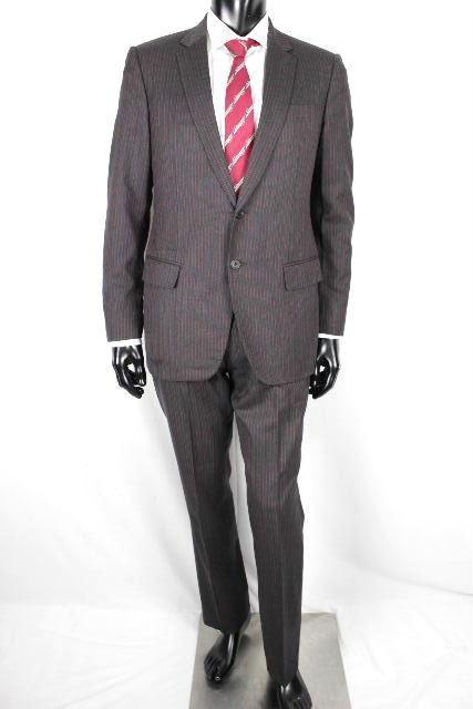 ルイヴィトン [ LOUISVUITTON ] ダミエ ストライプ ウール 2B シングル スーツ SIZE[48] メンズ ヴィトン ビトン ジャケット パンツ グレー
