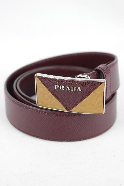 プラダ [ PRADA ] サフィアーノ レザーベルト エンジ 2C 5701 SIZE[36/90] メンズ ベルト