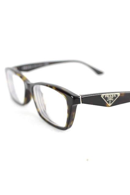 プラダ [ PRADA ] 三角プレート べっ甲系 メガネフレーム [ VPR 20R 2AU101 ] メンズ レディース めがね 眼鏡 ★付属品完備★