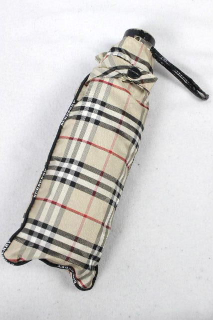 バーバリーロンドン [ BURBERRY LONDON ] チェック柄 折り畳み傘 ベージュ 日傘雨傘 晴雨兼用 レディース メンズ バーバリー 折りたたみ アンブレラ