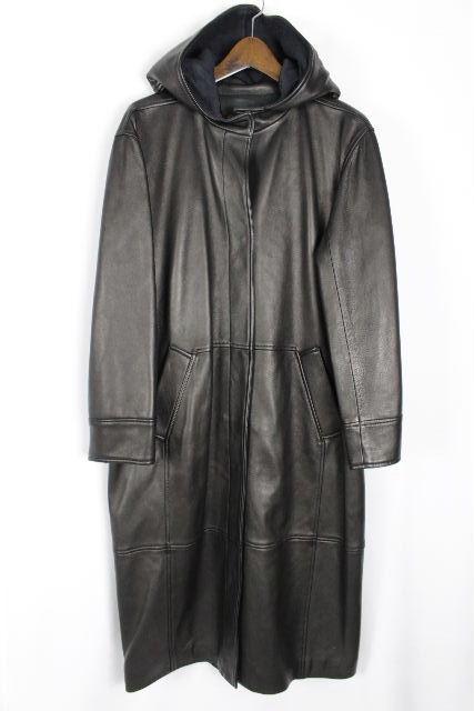 ロエベ [ LOEWE ] ナッパレザー フード ロングコート ブラウン 茶色 SIZE[36] レディース アウター パーカー コート ロングジャケット