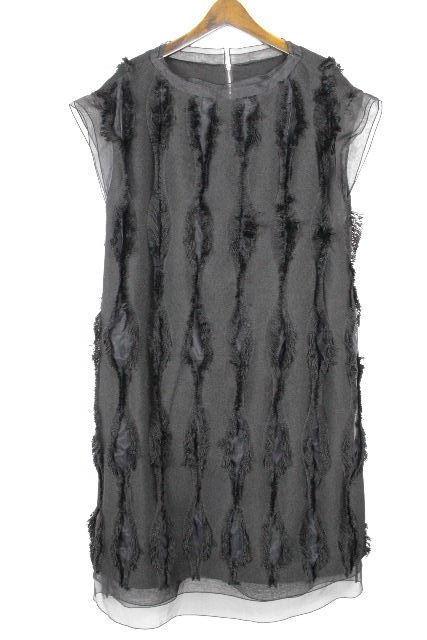アドーア [ ADORE ] フリンジ ロング ワンピース ブラック 黒 SIZE[38] レディース ワンピ