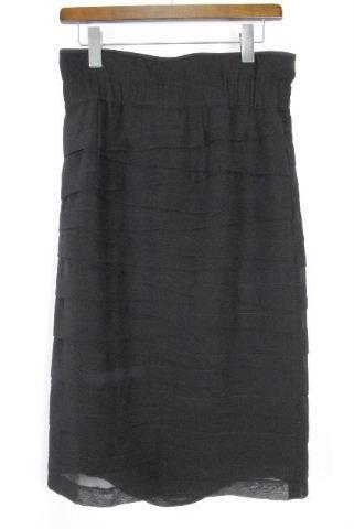 アドーア [ ADORE ] リボン ハイウエスト スカート ブラック 黒 SIZE[38] レディース ボトムス ティアード フリル ロングスカート