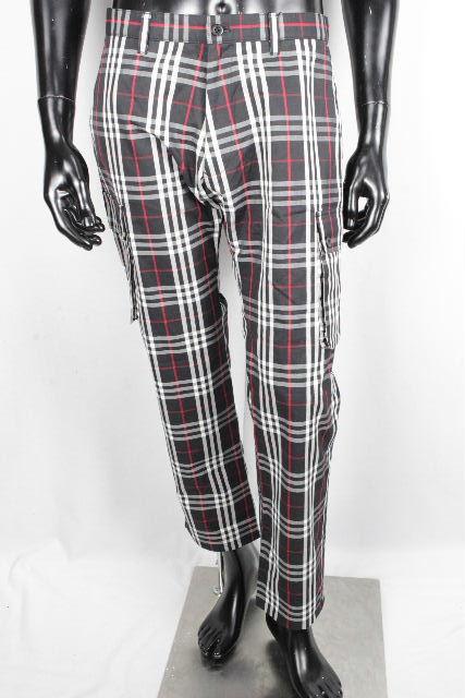 バーバリーブラックレーベル [ Burberry ] チェック柄 パンツ 黒 SIZE[82] メンズ バーバリー カーゴパンツ カジュアルパンツ