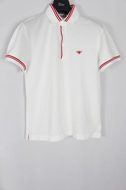 ディオールオム [ Dior Homme ] Bee 鹿の子 ポロシャツ ホワイト 白 半袖 SIZE[46] メンズ ディオール トップス カットソー Tシャツ ビー 蜂