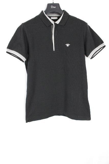 ディオールオム [ Dior Homme ] Bee 鹿の子 ポロシャツ ブラック 黒 半袖 SIZE[48] メンズ ディオール トップス カットソー Tシャツ ビー 蜂