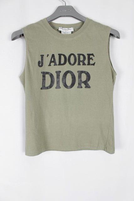 クリスチャンディオール [ Dior ] JADORE ノースリーブ カットソー カーキ レディース ディオール トップス タンクトップ Tシャツ