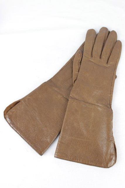 シャネル [ CHANEL ] ココマーク レザー グローブ ブラウン SIZE[7.5/M相当] レディース 手袋
