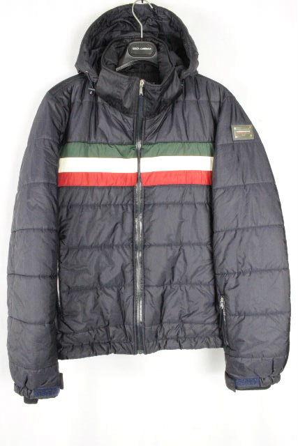 ドルチェ&ガッバーナ [ DOLCE&GABBANA ] イタリアカラー フード 中綿 ダウンジャケット SIZE[48] メンズ ドルガバ アウター