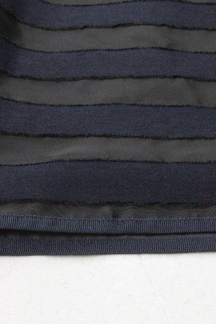 アドーア [ ADORE ] ボーダー セットアップ 黒×紺 SIZE[38] レディース プルオーバー ロングスカート ワンピース