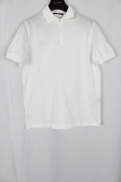 ルイヴィトン [ LOUISVUITTON ] LVロゴ 鹿の子 ポロシャツ ホワイト 白 半袖 SIZE[S] メンズ ヴィトン ビトン トップス カットソー
