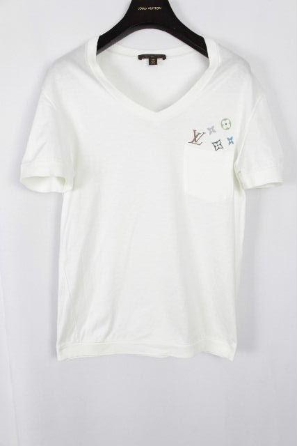 ルイヴィトン [ LOUISVUITTON ] モノグラム ポケット Vネック Tシャツ 半袖 SIZE[XS] メンズ ヴィトン ビトン カットソー ホワイト 白