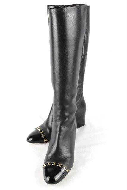 フェラガモ [ Ferragamo ] ガンチーニ レザー ロングブーツ ブラック 黒 SIZE[6D] レディース サルヴァトーレフェラガモ NANNI55C
