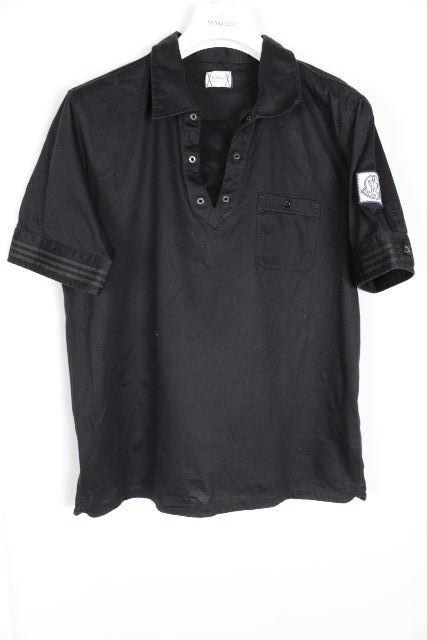 モンクレール×トムブラウン[ MONCLER ] ポロシャツ ブラック 黒 半袖 SIZE[XL] メンズ トップス カットソー Tシャツ