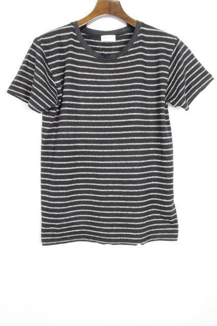 サンローラン [ SAINTLAURENT ] 2015 ボーダー カットソー ブラック 黒 半袖 SIZE[XS] メンズ イヴサンローラン Tシャツ