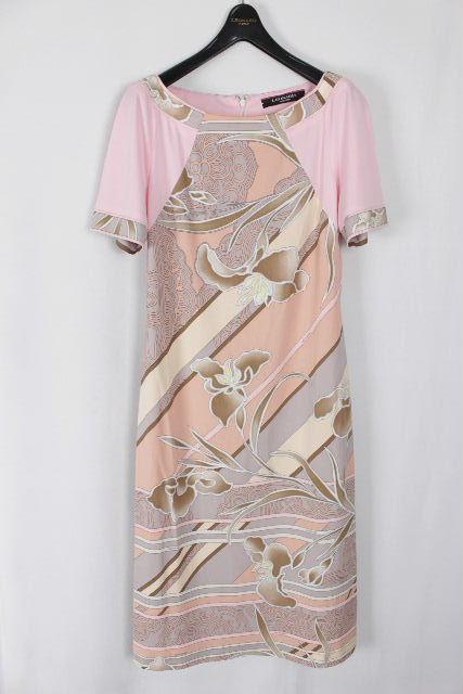 レオナール [ LEONARD ] ロゴ フラワー ワンピース ピンク SIZE[38] レディース ワンピ 花柄