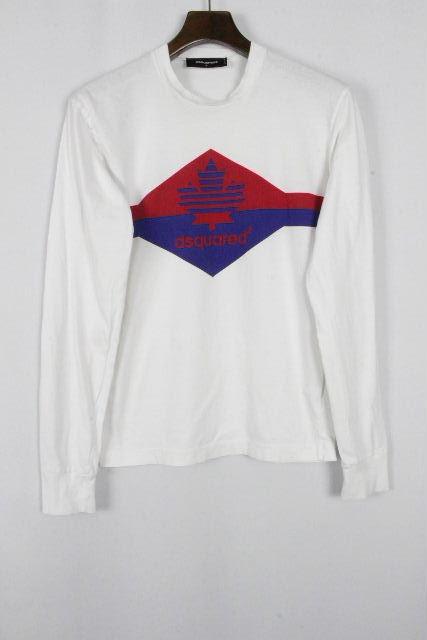 ディースクエアード [ DSQUARED2 ] カナディアン ロンT ホワイト 白 SIZE[S] メンズ ディースク ロングTシャツ カットソー 長袖