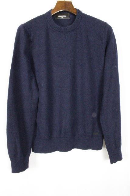 ディースクエアード [ DSQUARED2 ] プルオーバー ニット セーター ネイビー 紺色 長袖 SIZE[XS] メンズ ディースク トップス