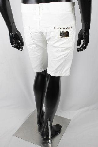 ドルチェ&ガッバーナ [ DOLCE&GABBANA ] スタッズ ホワイトデニム パンツ 白 14CLASSIC SIZE[46] メンズ ドルガバ ハーフパンツ ショートパンツ 短パン
