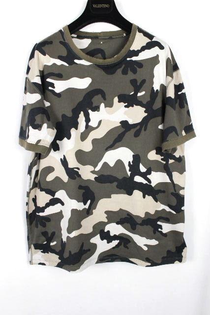 ヴァレンティノ [ VALENTINO ] スタッズ カモフラ Tシャツ カーキ 半袖 SIZE[XL] メンズ ヴァレンチノ トップス カットソー 迷彩柄