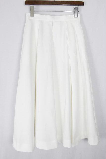 エンフォルド [ ENFOLD ] イレギュラーヘム ロングスカート ホワイト 白 SIZE[36] レディース フレアースカート マキシ マキシ丈