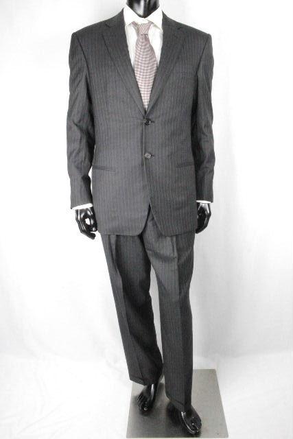 ジョルジオアルマーニ [ ARMANI ] 2B ストライプ スーツ グレー SUPER 180S SIZE[48] メンズ アルマーニ ジャケット パンツ