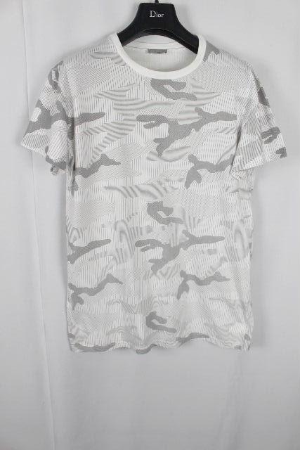 ディオールオム [ Dior Homme ] カモフラージュ Tシャツ ホワイト 白 半袖 SIZE[L] メンズ ディオール トップス カットソー カモフラ 迷彩柄