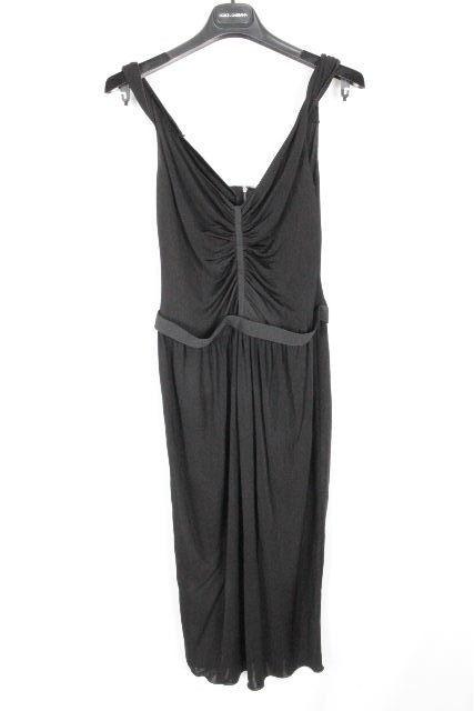 ドルチェ&ガッバーナ [ DOLCE&GABBANA ] ストレッチ ドレス ワンピース ブラック 黒 SIZE[44] レディース ドルガバ ワンピ