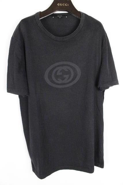 グッチ [ GUCCI ] ビッグGGロゴ Tシャツ ブラック 黒 半袖 SIZE[L] メンズ トップス カットソー