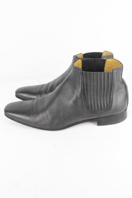 エルメス [ HERMES ] レザー サイドゴアブーツ グレー SIZE[41] メンズ シューズ ショートブーツ ブーツ