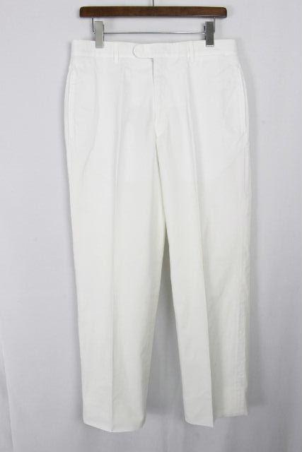 エルメス [ HERMES ] コットンパンツ ホワイト 白 SIZE[52] メンズ ボトムス カジュアルパンツ
