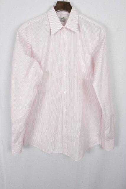 エルメス [ HERMES ] 総H柄 セリエ ストライプ シャツ ピンク SIZE[40 15・3/4] メンズ トップス カジュアルシャツ カッターシャツ 長袖
