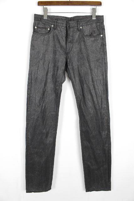 ディオールオム [ Dior Homme ] 加工 スキニーデニムパンツ ブラック 黒 SIZE[31] メンズ ディオール ブラックデニム ジーンズ