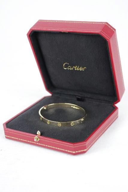 カルティエ [ Cartier ] ラブブレスレット イエローゴールド ♯18 メンズ レディース ラヴブレス ラブブレス バングル K18 YG750