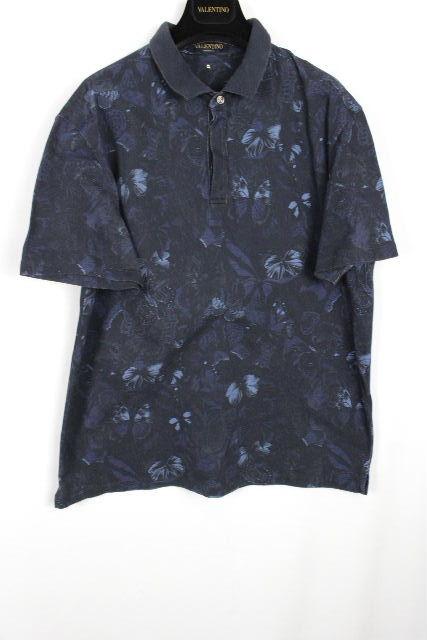 ヴァレンティノ [ VALENTINO ] スタッズ ボサノバ柄 ポロシャツ ネイビー 紺 半袖 SIZE[XL] メンズ バレンチノ トップス カットソー Tシャツ