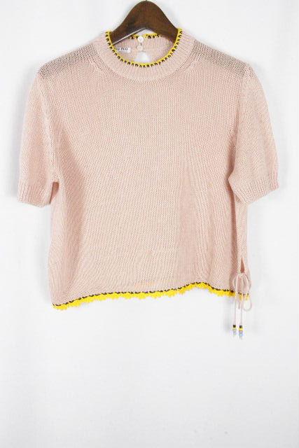 ミュウミュウ [ MIUMIU ] 2017 プルオーバー ニット ピンク 半袖 SIZE[36] レディース トップス カットソー セーター