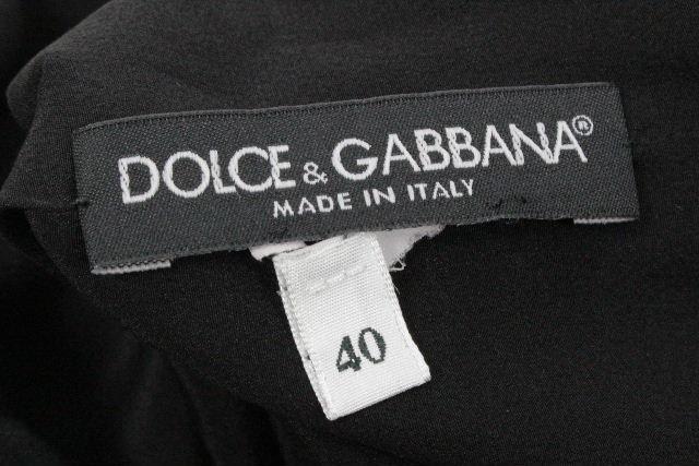 ドルチェ&ガッバーナ [ DOLCE&GABBANA ] リネン レース ノースリーブ ワンピース SIZE[40] レディース ドルガバ ノースリ ワンピ ブラック 黒