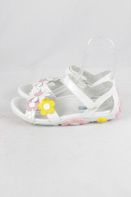 プラダ [ PRADA ] フラワー スポーツサンダル ホワイト 白 SIZE[37] レディース フラットサンダル スポサン サンダル 花柄