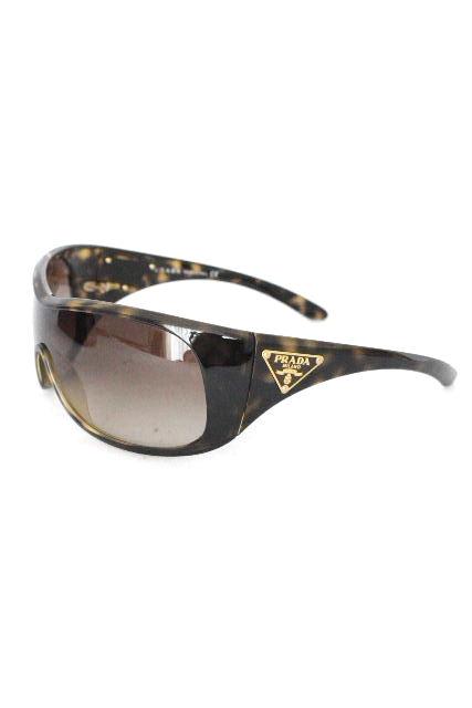 プラダ [ PRADA ] 三角プレート べっ甲 サングラス[ SPR14L 2AU-6S1 ] レディース メンズ ブラウン 茶色 眼鏡