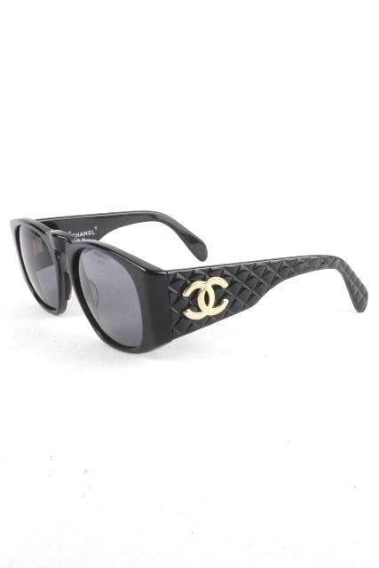 シャネル [ CHANEL ] ヴィンテージ マトラッセ サングラス ブラック[ 0003 10 ] レディース メガネ めがね 眼鏡 黒
