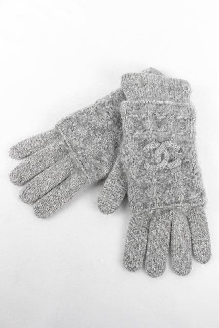 シャネル [ CHANEL ] ココマーク カシミヤ グローブ グレー レディース 手袋