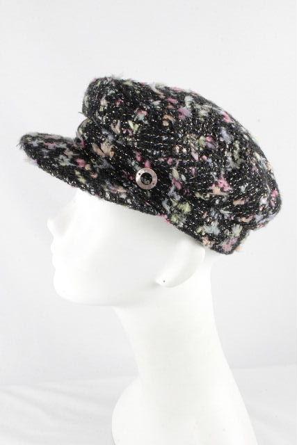 シャネル [ CHANEL ] ツイード キャスケット帽子 ブラック 黒 SIZE[57] レディース キャスケット帽 帽子