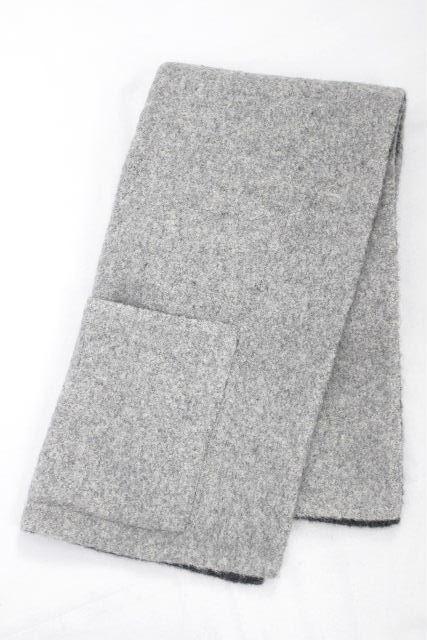 エルメス [ HERMES ] マルジェラ期 リバーシブル ウール マフラー グレー レディース ポンチョ ケープ ベスト ジャケット コート