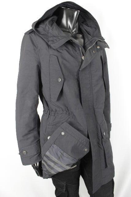 バーバリーロンドン [ BURBERRY ] ナイロン フード コート ブラック 黒×チェック柄 SIZE[L] メンズ バーバリー アウター ジャケット マウンテンパーカー
